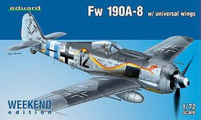 Eduard-Models 1/72 Fw190A8 Fighter w/Universal Wings (Wkd Edition Plastic Kit)