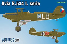 Eduard-Models Avia B534 I Serie Aircraft (Weekend Edition) Plastic Model Airplane Kit 1/72 #7446