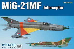 Eduard-Models 1/72 MiG21MF Interceptor Aircraft (Wkd Edition Plastic Kit)