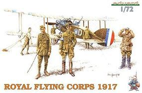 Eduard-Models Royal Flying Corps Crew 1917 Plastic Model Military Figure Kit 1/72 Scale #7503