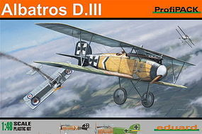 Eduard-Models Albatros D III BiPlane (Profi-Pack) Plastic Model Airplane Kit 1/48 Scale #8097
