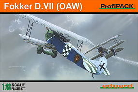 Eduard-Models Fokker D VII (OAW) BiPlane (Profi-Pack) Plastic Model Airplane Kit 1/48 Scale #8131