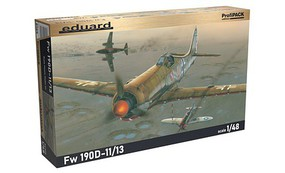 Eduard-Models Fw190D11/13 Fighter Dual Combo (Profi-Pack) Plastic Model Airplane Kit 1/48 Scale #8185