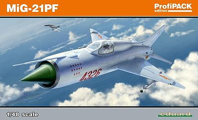 Eduard-Models MiG21PF Fighter (Profi-Pack) Plastic Model Airplane Kit 1/48 Scale #8236