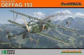 Eduard-Models Albatros D III OEFFAG 153 BiPlane (Profi-Pack) Plastic Model Airplane Kit 1/48 Scale #8241