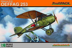 Eduard-Models Albatros D III OEFFAG 253 BiPlane (Profi-Pack) Plastic Model Airplane Kit 1/48 Scale #8242