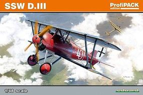 Eduard-Models SSW D III German BiPlane Fighter Plastic Model Airplane Kit 1/48 Scale #8256