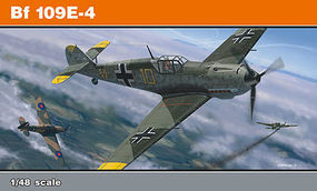 Eduard-Models Bf109E4 Fighter (Profi-Pack) Plastic Model Airplane Kit 1/48 Scale #8263