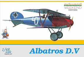 Eduard-Models Albatros D V BiPlane (Weekend Edition) Plastic Model Airplane Kit 1/48 Scale #8407