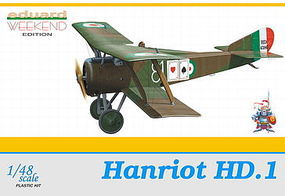 Eduard-Models Hanriot HD1 BiPlane (Weekend Edition) Plastic Model Airplane Kit 1/48 Scale #8412