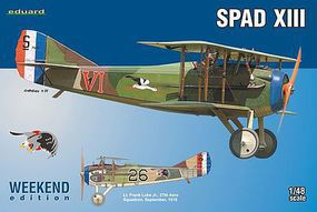 Spad XIII Biplane (Weekend Edition Plastic Kit) Plastic Model Airplane 1/48 Scale #8425