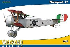 Eduard-Models Nieuport Ni17 BiPlane Fighter (Weekend Edition) Plastic Model Airplane Kit 1/48 Scale #8432