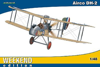 Eduard Models Airco DH2 BiPlane Fighter (Weekend Edition) -- Plastic Model Airplane Kit -- 1/48 Scale -- #8443