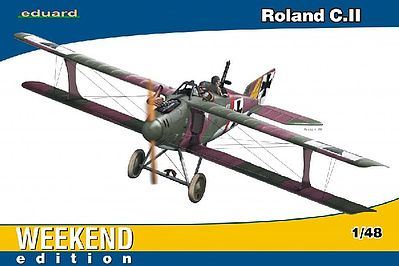 Eduard Models Roland C II BiPlane Fighter (Weekend Edition) -- Plastic Model Airplane Kit -- 1/48 Scale -- #8445