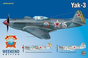 Eduard-Models Yak3 Fighter (Weekend Edition Plastic Kit) Plastic Model Airplane Kit 1/48 Scale #8457