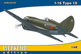 Eduard-Models I16 Type 10 Fighter (Weekend Edition) Plastic Model Airplane Kit 1/48 Scale #8469