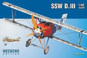 Eduard-Models SSW D III Fighter Plastic Model Airplane Kit 1/48 Scale #8484