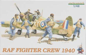 Eduard Models Royal Air Force Fighter Crew 1940 -- Plastic Model Military Figure Kit -- 1/48 Scale -- #8507
