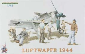 Eduard-Models Lutfwaffe Crew 1944 (6) Plastic Model Airplane Kit 1/48 Scale #8512