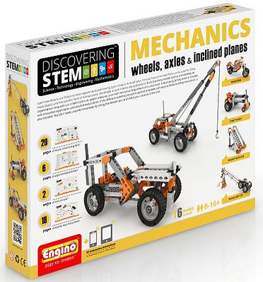 Elenco Electronics Discovering STEM Education Series- Mechanics Wheels, Axles & Inclined Planes Set