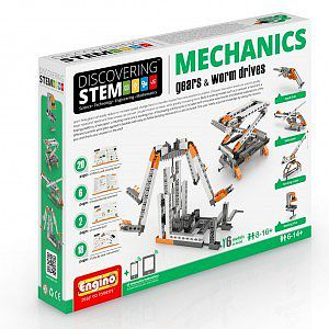 Elenco Electronics Discovering STEM Education Series- Mechanics Gears & Worm Drives Set