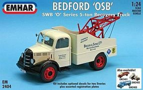 Emhar-squadron Bedford OSBT SWB O-Series 5-Ton Recovery Truck Plastic Model Truck Kit 1/24 Scale #2404