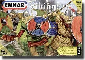 9th-10th Century Viking Warriors (12) Plastic Model Military Figure Kit 1/32 Scale #3205
