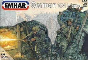 Emhar-squadron WWI German Infantry (12) Plastic Model Military Figure Kit 1/35 Scale #3503
