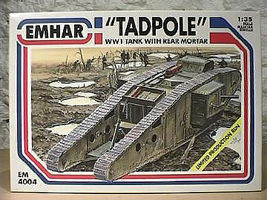 Emhar-squadron WWI British Tadpole Mk.IV Plastic Model Military Vehicle 1/35 Scale #4004