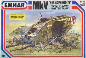 Emhar-squadron WWI British Hermaphrodite Mk V Tank Plastic Model Military Vehicle Kit 1/35 Scale #4005