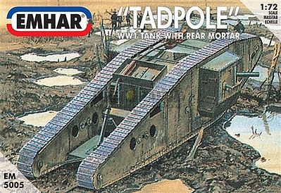 Emhar-squadron WWI British Tadpole Mk IV Tank Plastic Model Military Vehicle Kit 1/72 Scale #5005