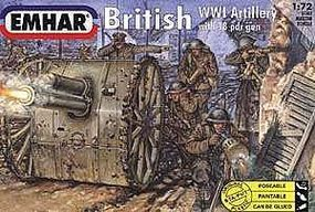 Emhar-squadron WWI British Artillery (24) Plastic Model Military Figure Kit 1/72 Scale #7202