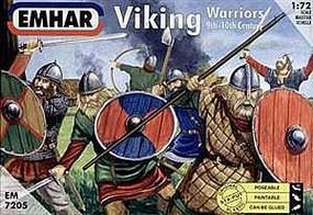 Emhar-squadron 9th-10th Century Viking Warriors (50) Plastic Model Military Figure Kit 1/72 Scale #7205