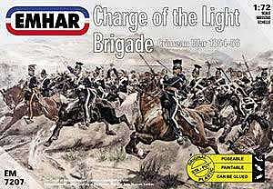 Emhar-squadron 1854-56 Charge of the Light Brigade Plastic Model Military Figure Kit 1/72 Scale #7207