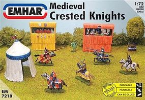 Emhar-squadron Medieval Crested Knights Plastic Model Military Figure Kit 1/72 Scale #7210