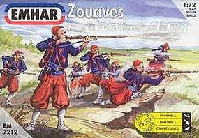 Emhar-squadron Zouaves (50) Plastic Model Military Figure Kit 1/72 Scale #7212