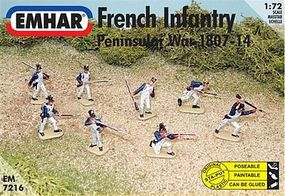 Emhar-squadron Peninsular War 1807-14 French Infantry Plastic Model Military Figure Kit 1/72 Scale #7216