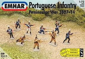 Emhar-squadron Peninsular War 1807-14 Portuguese Infantry Plastic Model Military Figure 1/72 Scale #7217