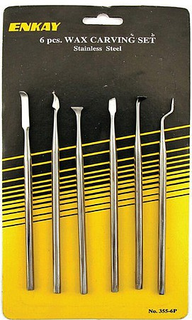 Enkay 6pc Assorted Stainless Steel Wax/Putty Carving Set (Cd)