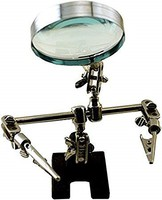 Enkay Helping-Hands Work Station w/Magnifier 2-1/2'' Lens (Blister Cd)