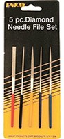 Enkay 5pc Assorted 4'' Mini Diamond File Set (Cd)