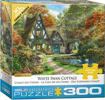 EuroGraphics Cottage w/White Swans Puzzle (300pc)