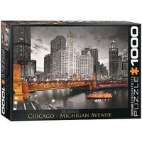 EuroGraphics Chicago Michigan Avenue 1000pcs Jigsaw Puzzle 600-1000 Piece #6000-0658