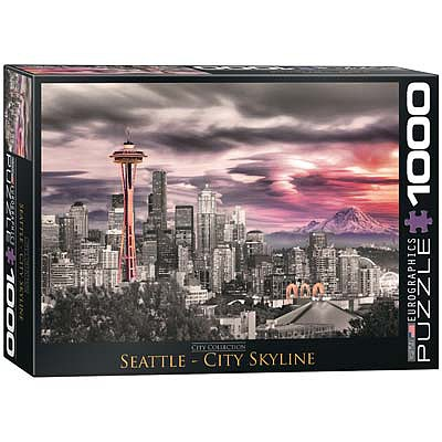 Eurographics Puzzles Seattle City Skyline 1000pcs -- Jigsaw Puzzle 600-1000 Piece -- #6000-0660