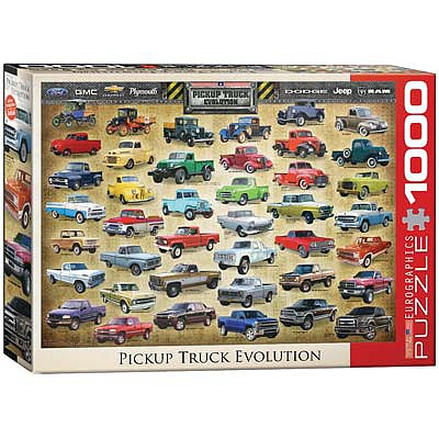 Eurographics Puzzles Pickup Truck Evolution 1000pcs -- Jigsaw Puzzle 600-1000 Piece -- #6000-0681