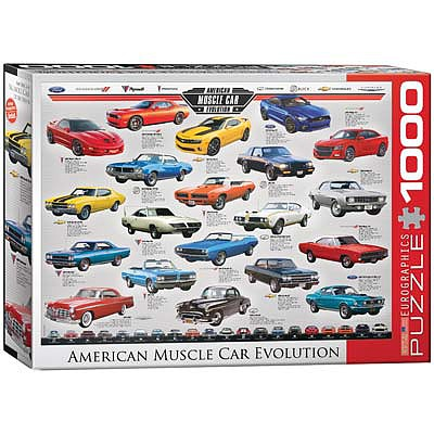 Eurographics Puzzles American Muscle Car Evolution 1000pcs -- Jigsaw Puzzle 600-1000 Piece -- #6000-0682