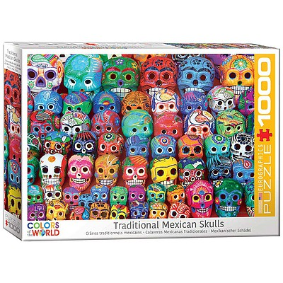 Eurographics Puzzles Traditional Mexican Skulls 1000pcs