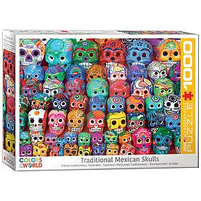 EuroGraphics Traditional Mexican Skulls 1000pcs