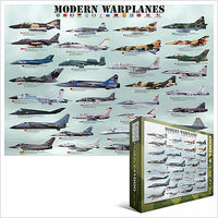 EuroGraphics Modern Warplanes Collage (1000pc) Jigsaw Puzzle 600-1000 Piece #60076
