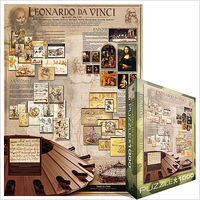 EuroGraphics Leonardo DaVinci History Collage (1000pc) Jigsaw Puzzle 600-1000 Piece #60084
